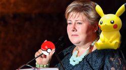 ノルウェー首相、国会中にポケモンGOしてる瞬間をさらされる【画像】