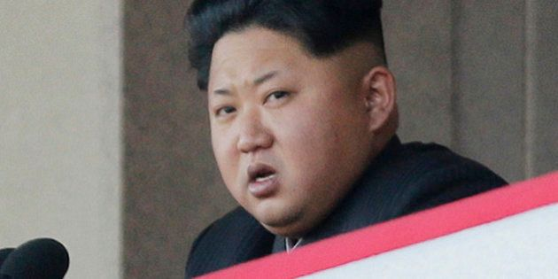 In this Oct. 10, 2015, file photo, North Korean leader Kim Jong Un delivers remarks at a military parade...