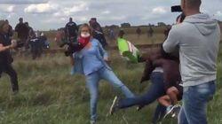 取材中に難民の子供を蹴りつけたテレビ局スタッフ 同業者が怒りの告発(動画)