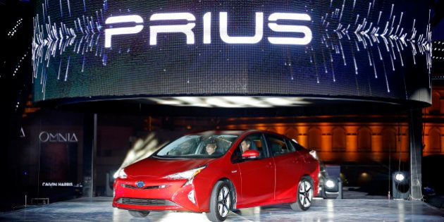 Toyota unveils the latest version of the Prius at an event Tuesday, Sept. 8, 2015, in Las Vegas. The...