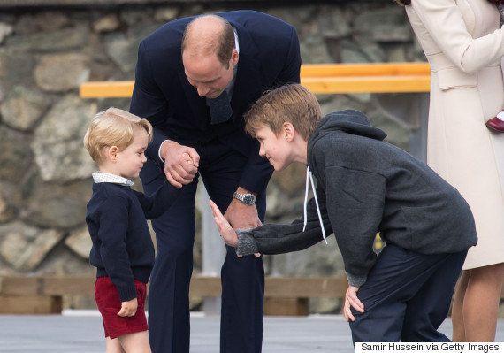 ジョージ王子とシャーロット王女、カナダにバイバイ(^^)/~(画像集)