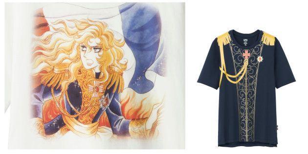 ユニクロ「ベルばら」Tシャツが爆誕 宝塚劇場駅前店ではオスカル様と撮影も