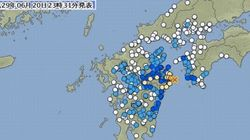 【地震情報】大分で震度5強、熊本・宮崎で震度4 震源は豊後水道