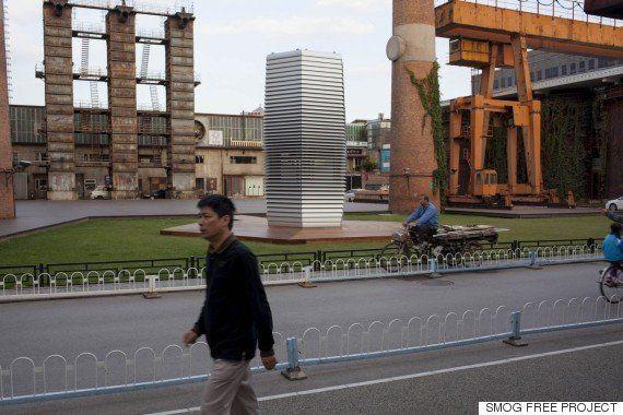 中国で今年も深刻な大気汚染 救世主か?巨大な空気清浄機が公園に誕生