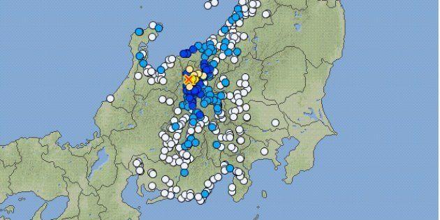 【地震情報】長野県北部で震度5弱(2018年5月12日)