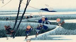「富嶽三十六景」がGIFアニメになったら、新しい美が見つかった