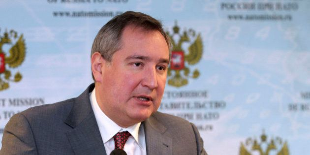 FILE - In this Jan. 13, 2012 file photo, Dmitry Rogozin, former ambassador of Russia to NATO, deputy...