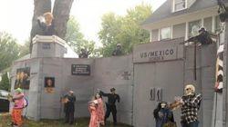 「メキシコ国境のトランプタワー」ハロウィンで出現?