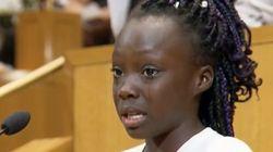 9歳の少女、射殺事件に涙の抗議「黒人だからこんな思いをするのは、おかしい」(スピーチ全文)