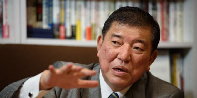 Shigeru Ishiba, Japan's minister in charge of regional revitalization, speaks during an interview in...