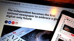 紙の発行をやめるインディペンデント紙 イギリスの全国紙で初のデジタル版移行