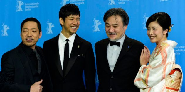 (From L) Japanese Actors Teruyuki Kagawa, Hidetoshi Nishijima, director Kiyoshi Kurosawa and Japanese...