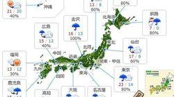 暴風に注意、東京は5月並みの暖かさに