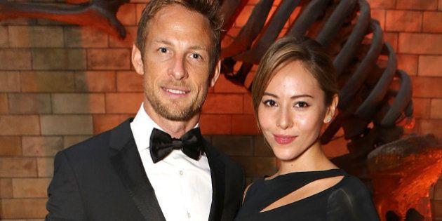 LONDON, ENGLAND - JUNE 27: Jessica Michibata and Jenson Button at the inaugural Walkabout Foundation...