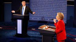 米大統領選TV討論会、戦略に成功したヒラリーと失敗したトランプ