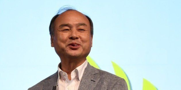 SoftBank Group founder and CEO Masayoshi Son speaks during a press conference announcing the company's...