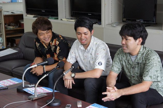 「辺野古」県民投票の会の若者ら=5月18日、沖縄県庁