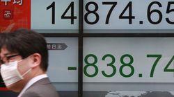 株価、1万5000円割れ