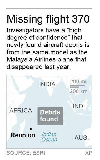 マレーシア航空機、レユニオン島で発見された残骸と型が一致 調査官「強く確信」