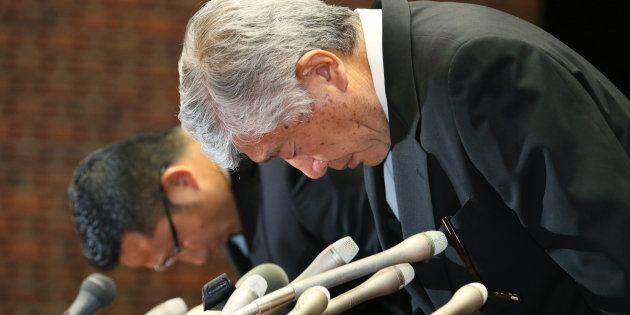 内田正人前監督、危険タックル騒動で謝罪。会見した選手本人にも「あのような気持ちにさせて反省している」