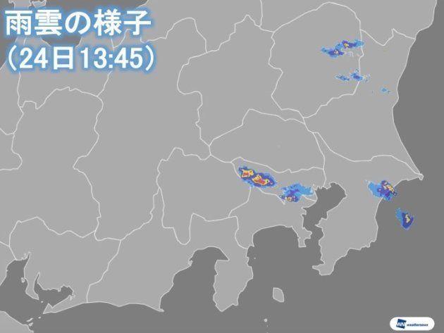 東京で大粒の雹を観測。落雷や突風に注意が必要