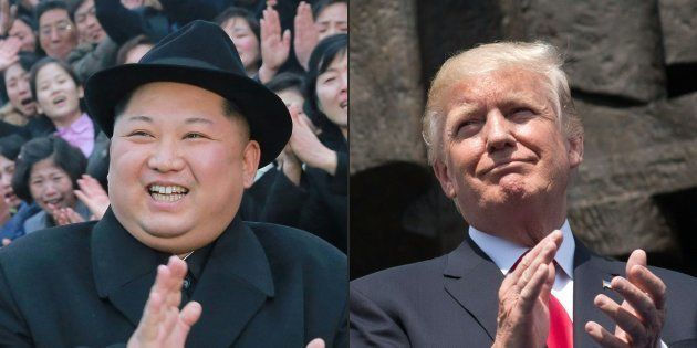 北朝鮮の金正恩朝鮮労働党委員長(写真左)とトランプ米大統領。