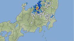 【地震情報】長野北部で震度5強、新潟で震度4