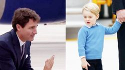 ジョージ王子、カナダのトルドー首相に冷たい仕打ち(動画)