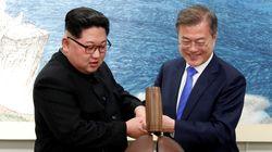 二度目の南北首脳会談、板門店で実施 韓国の文在寅大統領と北朝鮮の金正恩委員長