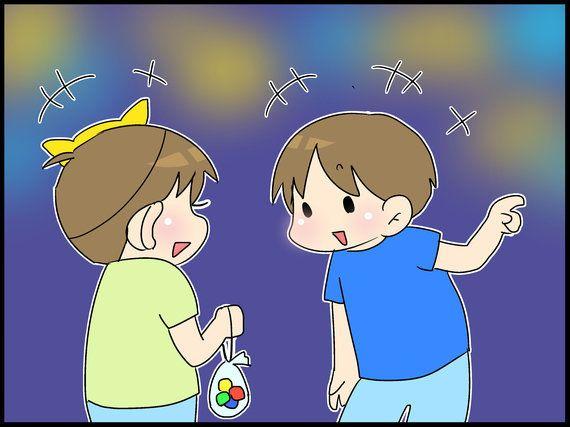 お祭りでの嬉しかったひととき。-『息子は自閉症。ママのイラスト日記』(33)