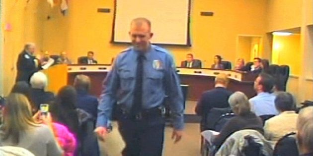 FILE - In this Feb. 11, 2014 file image from video provided by the City of Ferguson, Mo., officer Darren...