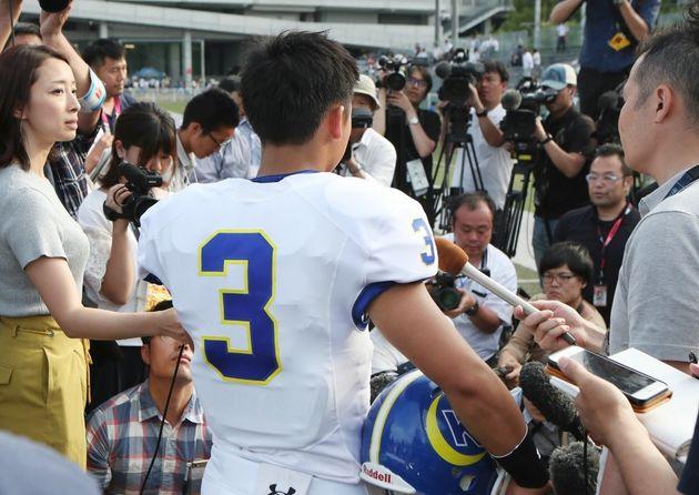 危険タックルを受けて負傷した関西学院大の選手は、試合に出られるまでに回復した