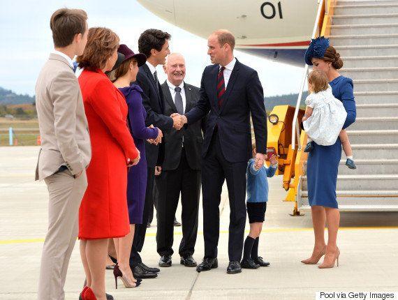 ジョージ王子とシャーロット王女、カナダでトルドー首相とご対面(画像集)