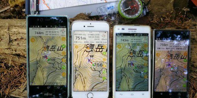 松本さんが作った登山用アプリ「ジオグラフィカ」