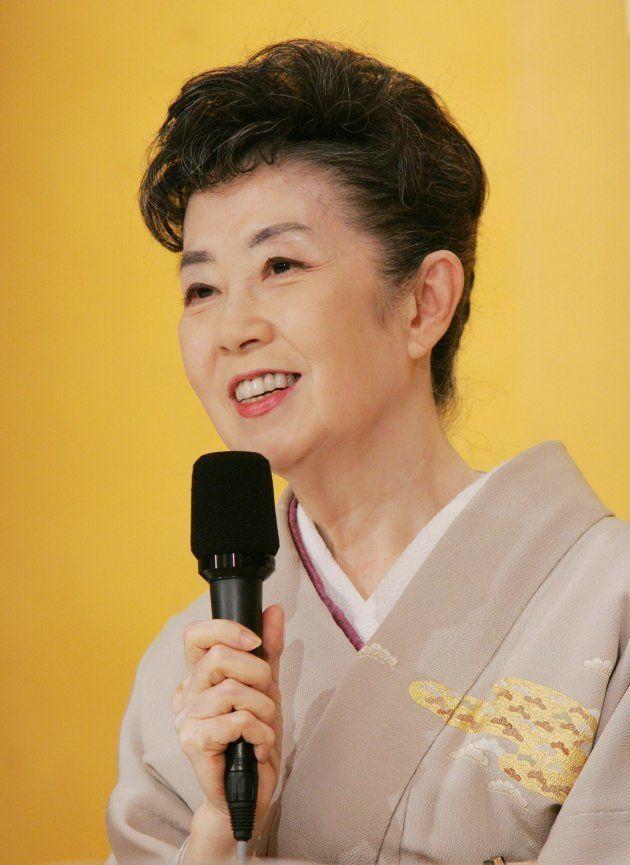 文化勲章を受ける喜びを語る女優の森光子さん(東京都内のホテル)