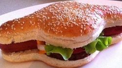 ホットドッグとハンバーガーが合体?