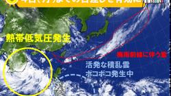 関東など梅雨入り間近。台風の卵も発生中、今後台風に変わる見込み