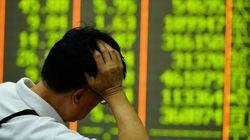 中国株、8.5%安の急落