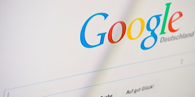 BERLIN, GERMANY - JUNE 02: The Google search engine is displayed on a screen on June 02, 2014 in Berlin,...