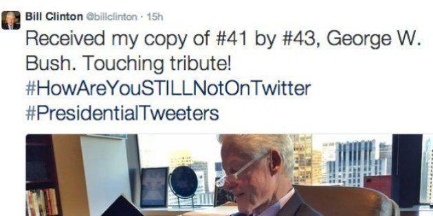 クリントン元大統領のツイートに、ブッシュ前大統領が見事な返球