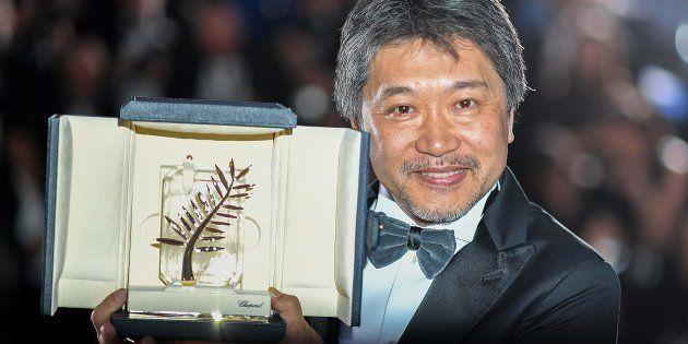 第71回カンヌ国際映画祭/最高賞パルムドールを受賞した「万引き家族」の是枝裕和監督