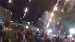 打ち上げ花火の燃えかす、観客に降りかかる