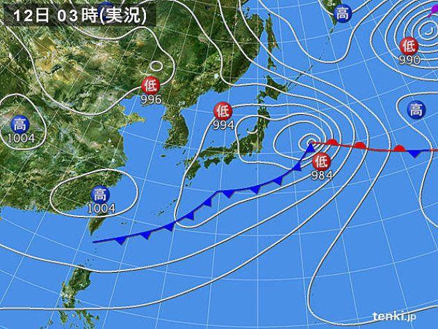 12日、関東甲信は急な雨や雷雨に注意が必要