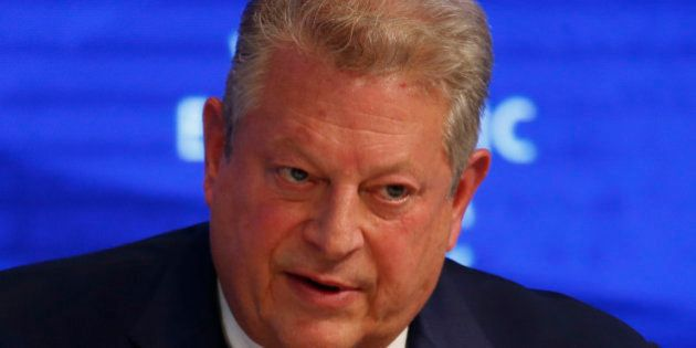 Former U.S. Vice President Al Gore, attends the annual meeting of the World Economic Forum (WEF) in Davos,...