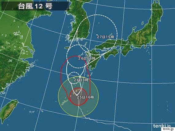 【台風情報】台風12号、奄美地方が暴風域に入る