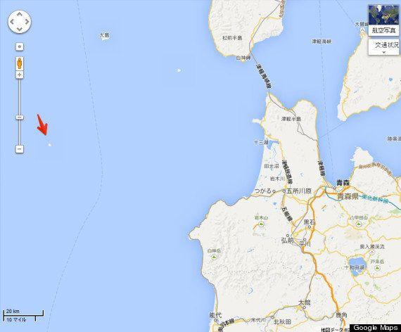 日本海の「謎の島」Google マップから消える