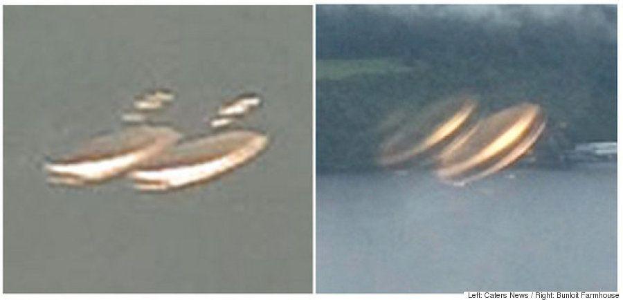 ネス湖で撮影された
