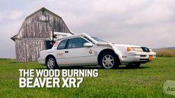【字幕付きビデオ】ガソリン高も怖くない!? 木を燃料にして走る車に試乗!