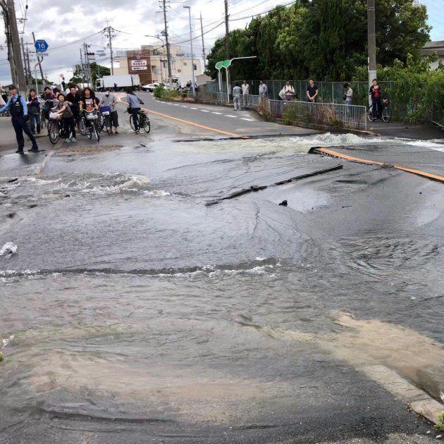 《大阪地震》震度6弱・高槻市の現地写真