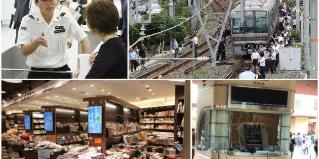 《大阪地震》大混乱の駅、途方にくれる乗客、USJにも被害… いま現地は(写真)